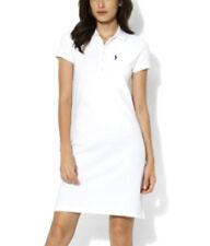NEW Genuine RALPH LAUREN Polo White Classic Cotton Polo Dress Womens Size Medium