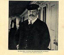 Zur Kieler Woche: Des Kaisers Gast König Eduard VII. von Engla Bilddokument 1904