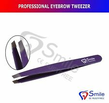 PROFESSIONAL EYEBROW TWEEZERS HAIR BEAUTY SLANTED STAINLESS STEEL TWEEZERS TOOL