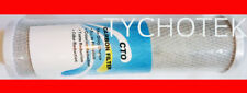 """Water filter cartridge 250mm (10"""") x 68mm (2.75"""") 5m activated carbon block"""