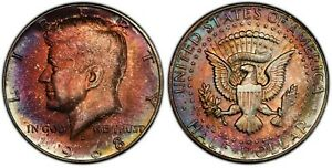 1968-D Kennedy Half Dollar MS66 w/ Incredible Vibrant Colorful Toning!