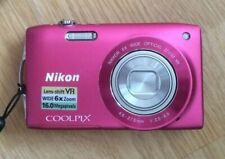 Nikon COOLPIX S3300 16.0MP Digitalkamera + 8GB + Etui - Pink / Rosa