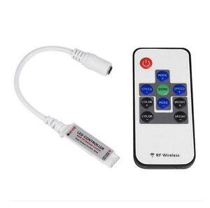 RGB LED Strip Light 3/10 Key RF Wireless Remote Mini  For 3528 5050.      AB12