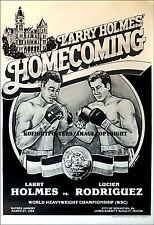 Larry Holmes Vs. LUCIEN RODRIGUEZ/original sur site vintage Boxe Fight Poster