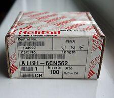 100 UNF 3/8-24 X .562 (1.5D) Helicoil Insertos de funcionamiento sin Ref: 1191-6CN562