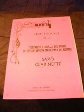 Partition Lectures à Vue Saxo clarinette