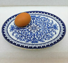 Teutonic blue oval plate stand for sauce boat Brown Westhead Moore BWM Victorian