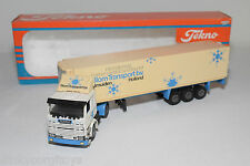 TEKNO SCANIA 142H 142 H TRUCK WITH TRAILER BLOM TRANSPORT IJMUIDEN N MINT BOXED