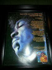 Jimi Hendrix The Live Concerts Rare Original Promo Poster Ad Framed!