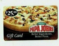 Papa John's Pizza Gift Card - Old 2006 / Restaurant Food -  No Value - I Combine