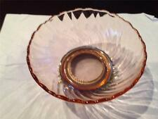"""Pink Glass Bowl with silver plate base 5""""  3""""  Pre-Owned"""