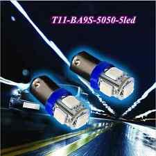 2 x T11 BA9S T4W H6W 363 Blue 5 LED 5050 SMD Car Wedge Side Light Lamp Bulb 12V
