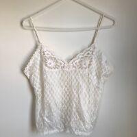 Undercover Wear Vintage Slip Set Skirt Chemise Cream Sheer Lace Womens Small Med