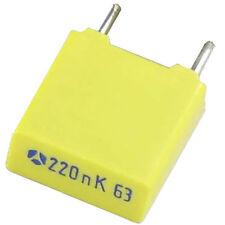 20 Stück MKT LCC 220nF 0,22µF 0,22uF 63V 10% (K) RM-5mm incl. De Versand