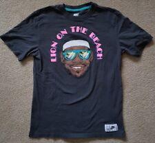 NIKE x LeBron James LBJ Dark Grey Crewneck Graphic Print T-Shirt Organic Cotton