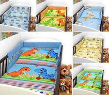 Baby Bedding Set 2 3 4 5 6 Pc Nursery Pillow Duvet Bumper Fit Cot Bed 140X70