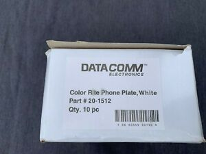 DataComm Color-Rite Phone Wall Plate White 20-1512 Lot of 10
