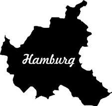 "2x Auto Aufkleber Bundesland ""Hamburg"" 11cm Vinyl Sticker konturg."