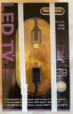PROFIGOLD LED TV CAVO HDMI CABLE GOLD 1 MT 3,3 FT NUOVO