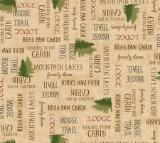 FABRIC QT ~ MOOSE TRAIL LODGE ~ Audrey Jean Roberts (26685 E) by the 1/2 yard