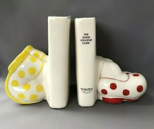 Carlton Ware The Good Lollipop Guide Pottery Bookends Walking Ware Big Foot
