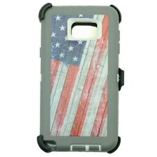 New listing For Samsung Galaxy Note 5 Defender Case w/[Belt Clip Fits Otterbox] Usa Flag