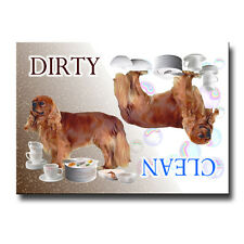 Cavalier King Charles Spaniel Clean Dirty Dishwasher Magnet No 4