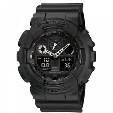 Casio G-SHOCK Military Series CHRONOGRAPH Black Mens Watch GA-100-1A1ER RRP £110