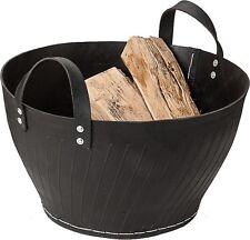 Panier en bois Grand Caoutchouc pour de cheminée chauffage Benta