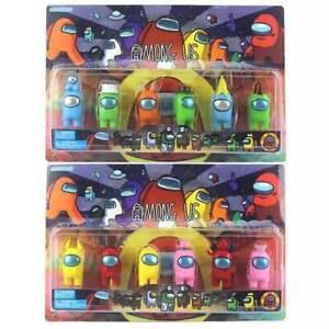 2021 Among Us 6PCS/Set Action Figures Toys Game Figure Kit Kids Gifts Random Set