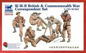 Bronco Model kit CB35140 1/35 WWII Commonwealth Reporter (6 figs) - USA Shipping