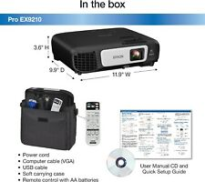 EPSON PRO EX9210 1080P+ WUXGA 3LCD WIRELESS  BUSINESS PROJECTOR HDMI MHL 3400