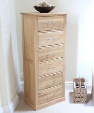 MoBEL Solid Oak Tallboy (6 Drawer) Living Dining Room Bedroom Hallway COR12A