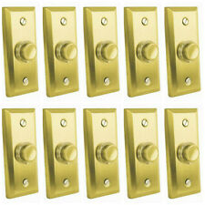 Box of 10 x Eterna FBPLSB Illuminated Wired Door Bell Pushes (Satin Brass)