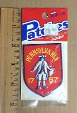 NIP State of PENNSYLVANIA 1787 Colonial Figure Man Souvenir Patch Badge