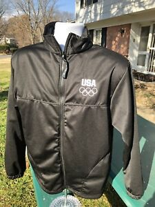 Rare Team USA Olympic Committee Jacket, Full Zip, black, Size M