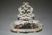 Vintage Cast Iron soap dish Heavy Shabby decor