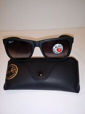 BRAND NEW Ray-Ban RB4165 Justin 622/T3 Polarized Black/Gray Gradient