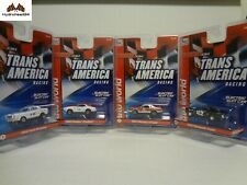 Auto World Sc338 ThunderJet Ultra G Trans America Electric Slot Car Set of 4 19D