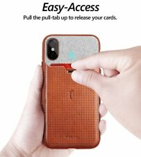 Case For Apple iPhone X Poetic【Nubuck】Stylish thin TPU / Leather Case Brown