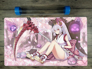 YuGiOh Red Blossoms from Underroot Custom Playmat Trading Card Game Free Tube