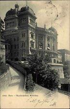 BERN Bundespalast 1905 AK Bedarfspost Schweiz n/ Berlin gelaufen alte Postkarte