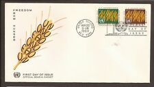 UN (New York) 1963 FDC. Freedom from Hunger