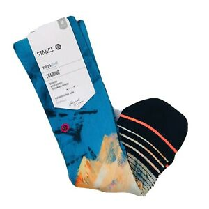 Stance Women Blue Crew Michael Kagan Moon Crystal Performance Socks M 8-10.5 SJ