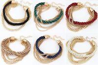 Damen Vintage Armband Kette Gold Geschenk Trendy Bracelet Hochzeit Braut Party