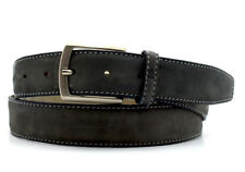 Van Laack Classic Mens Leather Belt Grey Size 42