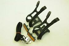 WELLGO MT-9L DOUBLE PRONG MTB,ATB TOE CLIPS STRAP W/REFLECTOR PLATE LARGE NEW