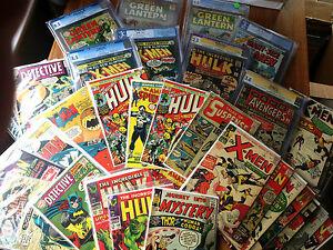 Detective Comic Grab Bag lot, Batman, Green Lantern 76, Showcase 22 4, Hulk