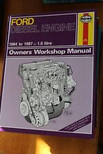 Ford Diesel Engine 1984 - 1987 1.6 Litre Haynes Manual 1172