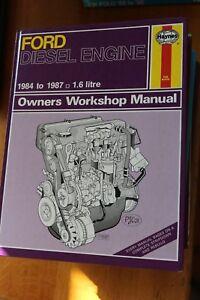 Ford Diesel Engine 1984 - 1987 1.6 Litre Haynes Manual 1172